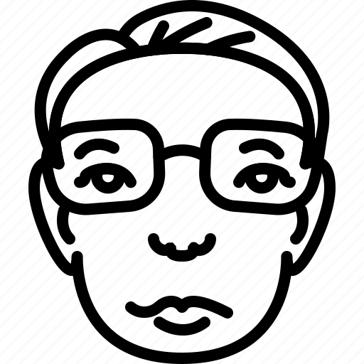 avatar, businessman, eyeglasses, face, haircut, people, person icon
