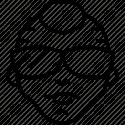 avatar, face, mohawk, people, person, punk, sunglasses icon