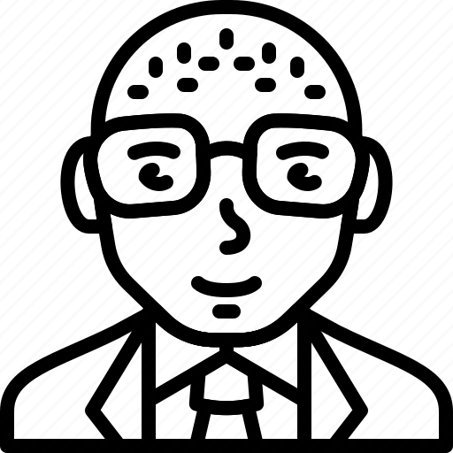 avatar, businessman, eyeglasses, man, person, suit, tie icon