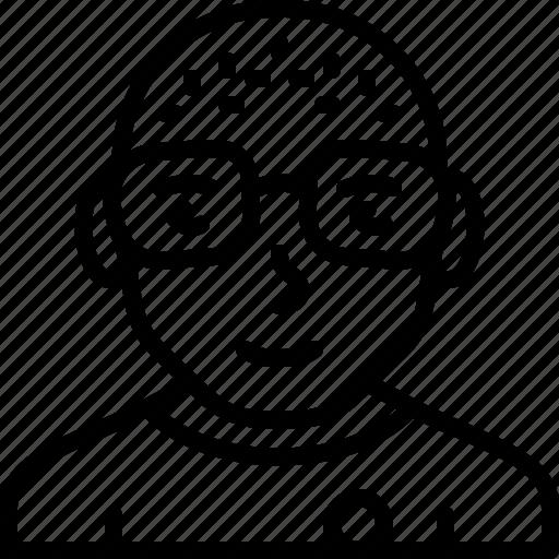 avatar, body, casual, eyeglasses, man, person, skin icon