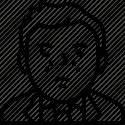 avatar, body, businessman, man, person, suit, tie icon