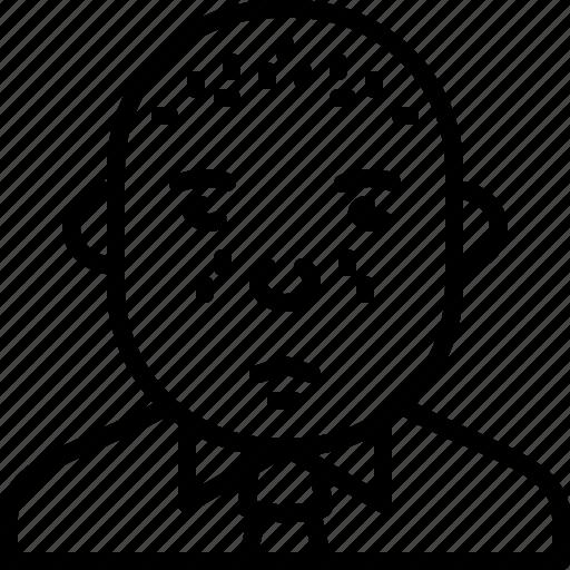 avatar, bald, man, person, shirt, suit, tie icon