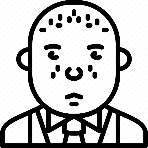 Bald, person, avatar, suit, tie, man, formal icon - Download