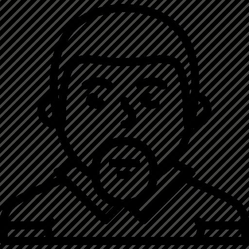 avatar, beard, body, guido, man, muscle, person icon