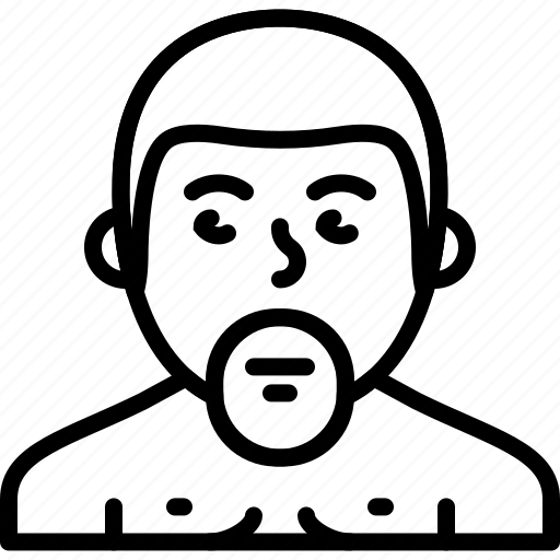 avatar, beard, body, man, naked, person icon