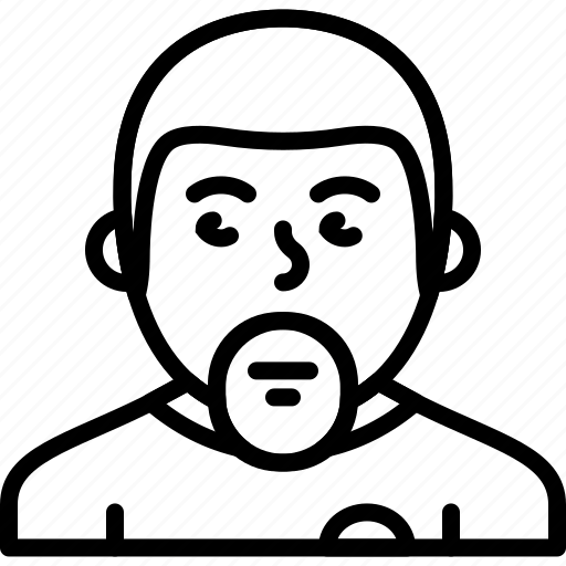 avatar, beard, body, casual, man, person icon