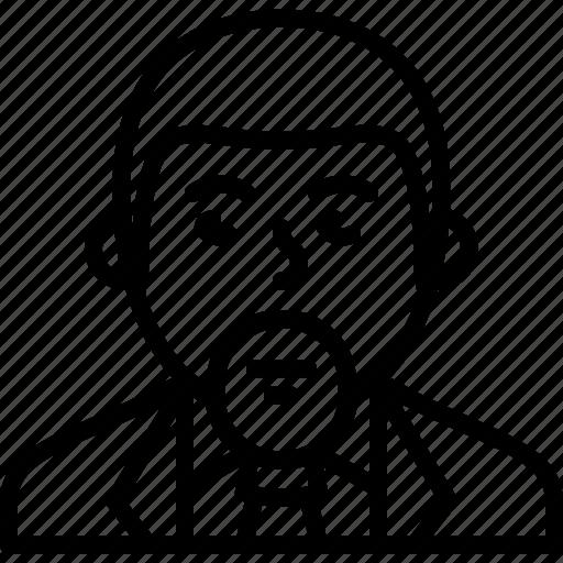 avatar, beard, businessman, man, person, suit, tie icon