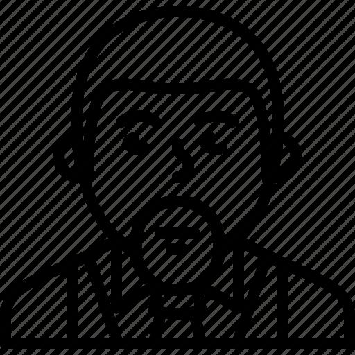 avatar, beard, formal, man, person, suit, tie icon