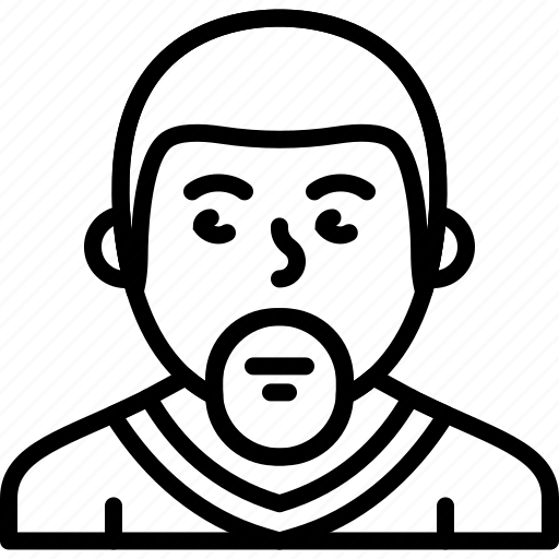avatar, beard, body, man, person, sweater icon