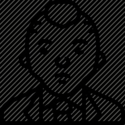avatar, businessman, man, person, punk, suit, tie icon