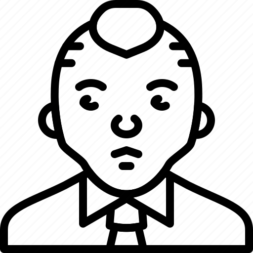 avatar, man, person, punk, shirt, suit, tie icon