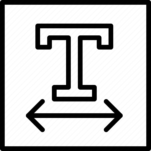 content, edit, format, kerning, set, text, type icon