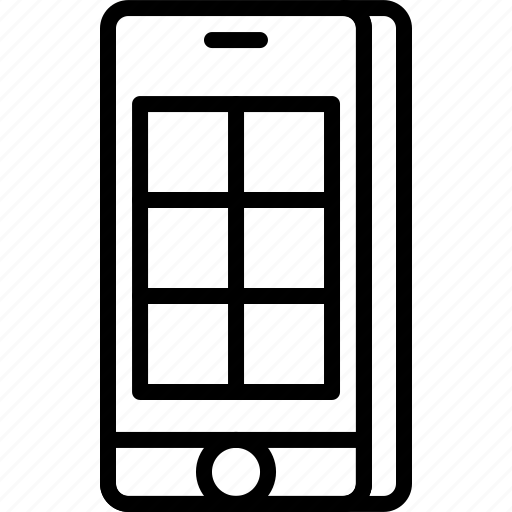 align, app, column, content, grid, interface, layout icon