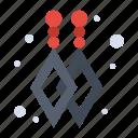 custom, dangling, earrings icon