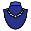 accessory, bead, jewelry, necklace, pearl icon