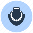 jewelry, necklace, pearl icon
