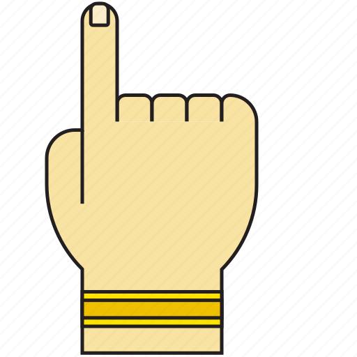 arrow, direction, finger, gesture, hand, pointer, touch icon