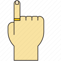 direction, finger, gesture, hand, pointer, tap, touch icon