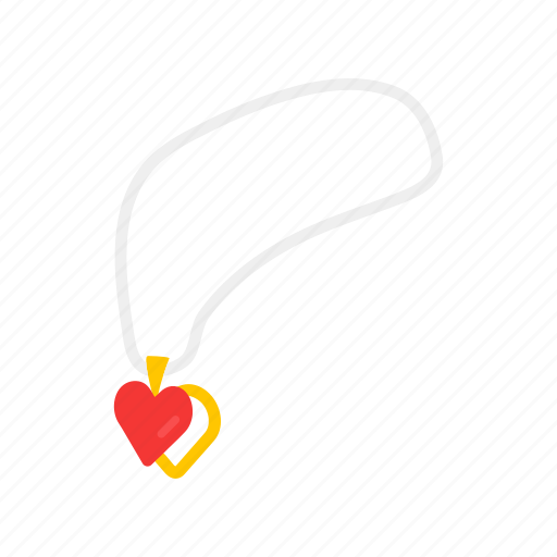 Accessory, heart pendant, jewelry, necklace, pendant icon - Download on Iconfinder