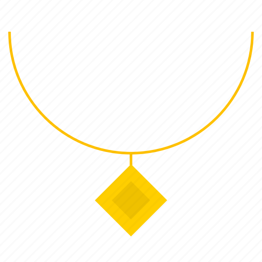 accessory, bijouterie, gold, golden necklace, jewelry, pendant icon