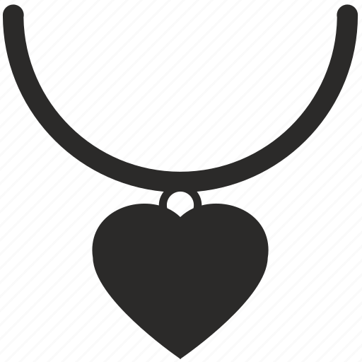 heart, jewerly, pendant icon