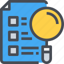 document, file, job, lsit, resume icon