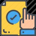 business, career, check, click, hand, job icon