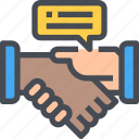 business, connect, connection, deal, team, teamwork icon