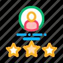 avatar, human, job, silhouette, stars icon