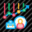 avatar, case, chart, graph, hunting, job icon