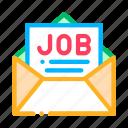 envelope, job, list, mail, message icon