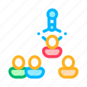 human, hunting, job, silhouettes, team, working icon