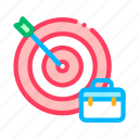 arrow, case, hit, hunting, job, target icon