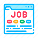 business, hunting, job, resource, site, web icon