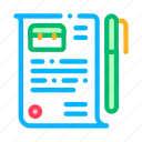 agreement, contract, job, pen, worksheet icon