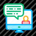 avatar, computer, discuss, internet, screen icon