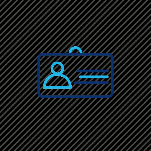 card, employee, id, job, office, profile, user icon