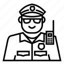 avatar, emoji, face, police icon