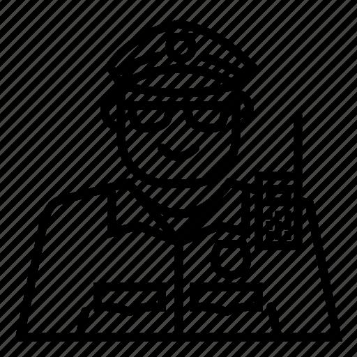 Avatar, emoji, face, police icon - Download on Iconfinder