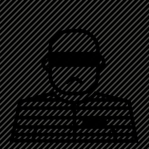 avatar, face, jail, prison, prisoner icon