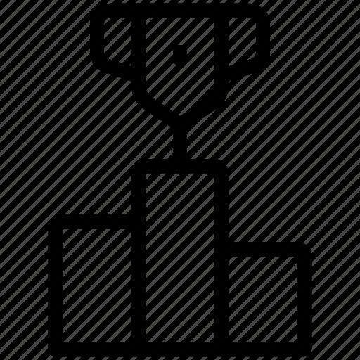 Award, champion, pedestal, podium, stage, winner icon - Download on Iconfinder
