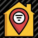 home, address, location, map, gps
