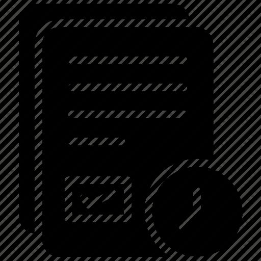document, file, list, record, task list icon