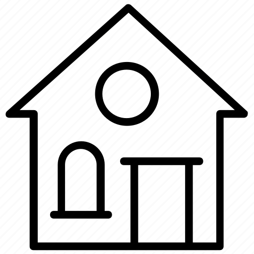 home address, house address, mailing address, residential address, residential area icon