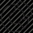 analityc, business, chart, diagram, job, pie, resume icon