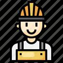 worker, man, safety, helmet