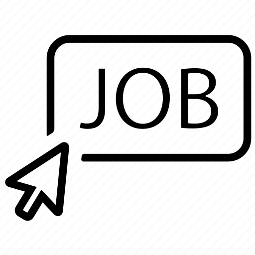 arrow, click, job icon