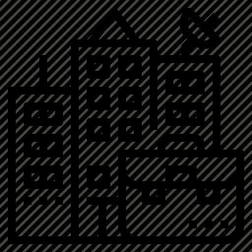 building, company, founder, job, location icon