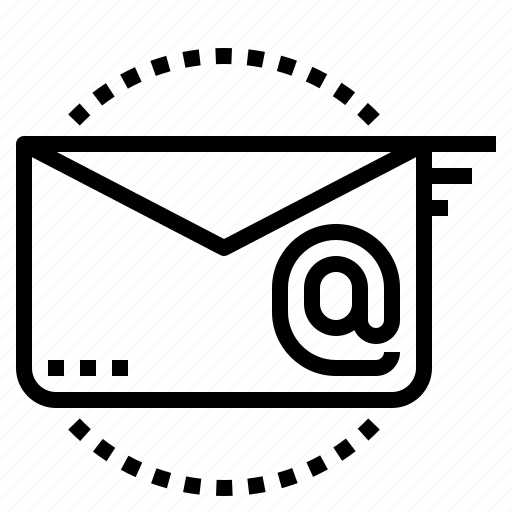 at, email, fast, letter, sendding icon