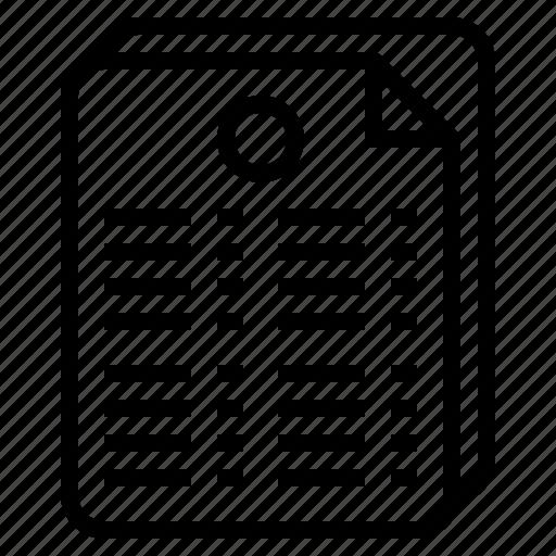 document, gpa, grade, summary icon